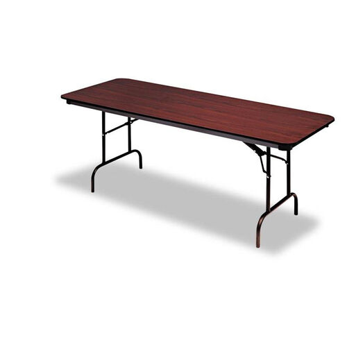 Our Iceberg Premium Wood Laminate Folding Table - Rectangular - 96w x 30d x 29h - Mahogany is on sale now.
