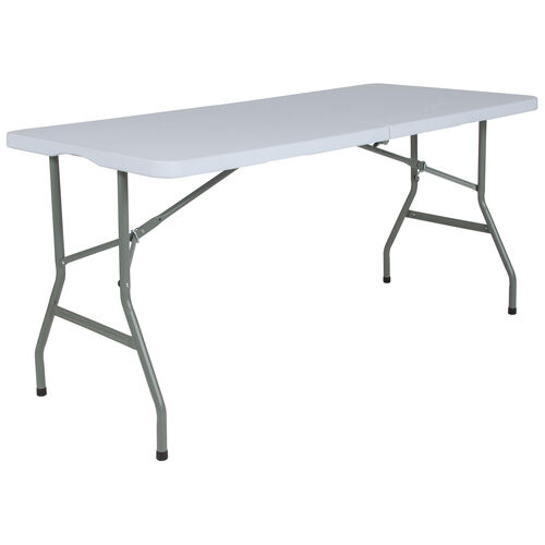 Our 4.97-Foot Bi-Fold Granite White Plastic Folding Table is on sale now.