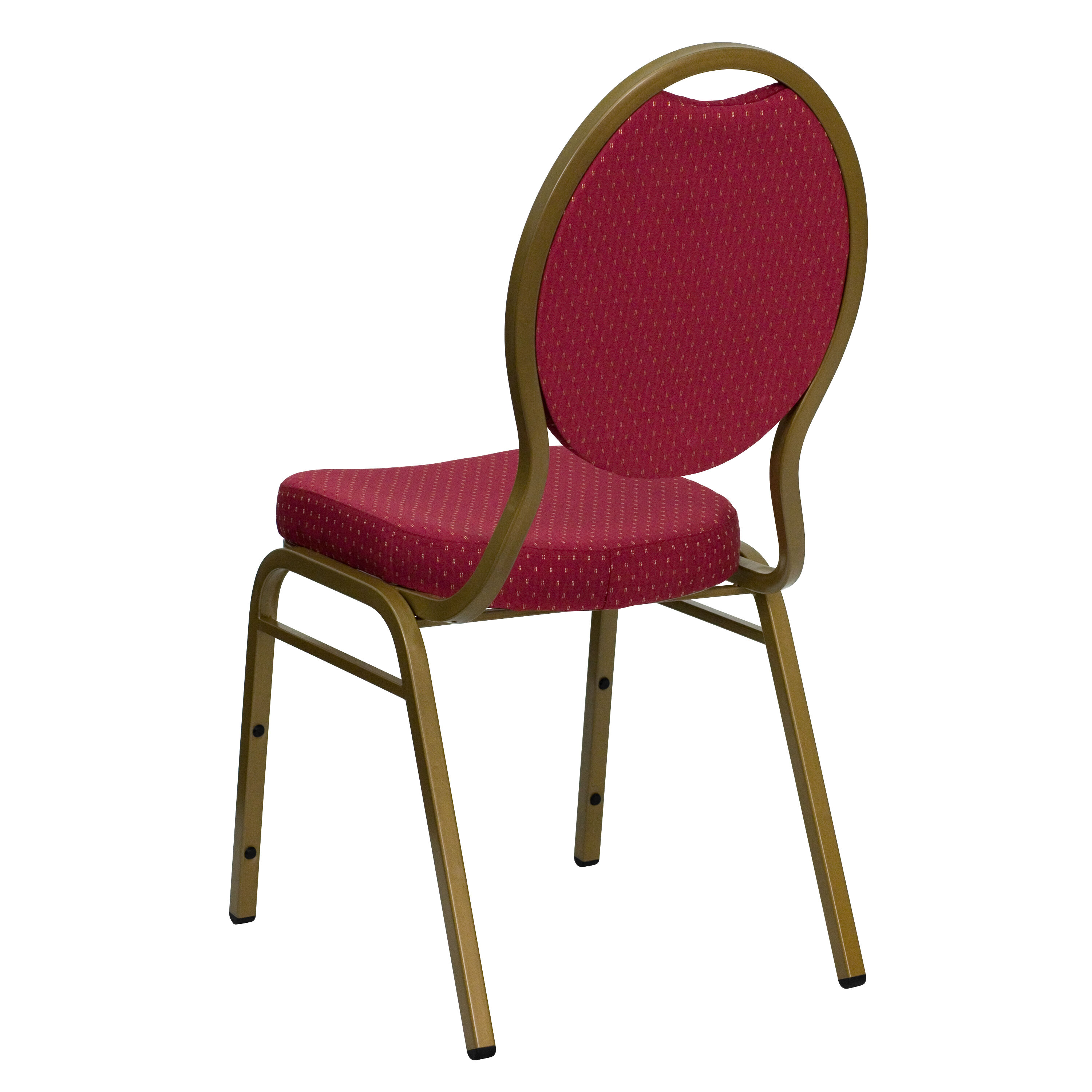 Flash Furniture HERCULES Series Teardrop Back Stacking Banquet Chair In  Burgundy Patterned Fabric   Gold Frame FD C04 ALLGOLD 2804 GG |  BestChiavariChairs. ...