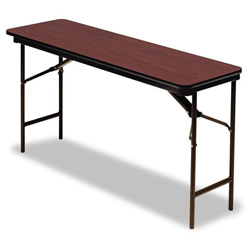 Our Iceberg Premium Wood Laminate Folding Table - Rectangular - 60w x 18d x 29h - Mahogany is on sale now.