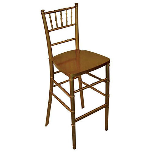 Legacy Series Stacking Wood Gloss Finish Chiavari Bar Stool - Gold Finish