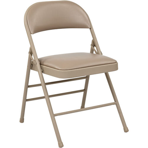 Our Work Smart Folding Chair with Vinyl Seat and Back - Set of 4 - Tan is on sale now.