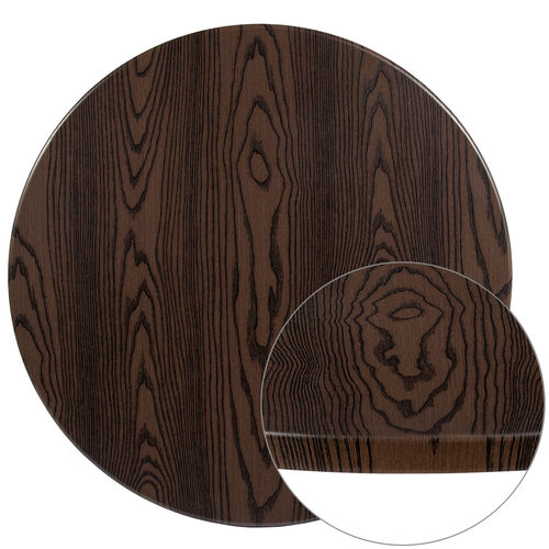 "Our 36"" Round Rustic Wood Laminate Table Top is on sale now."
