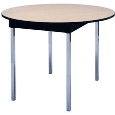 Deluxe Series 42'' Round Conference Table with Vinyl Flush Edge and Laminate Top