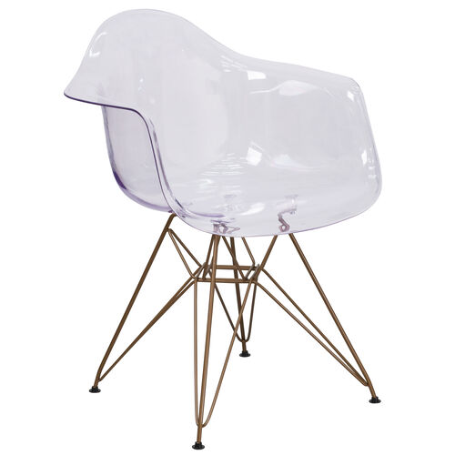 Our Alonza Series Transparent Side Chair with Gold Base is on sale now.