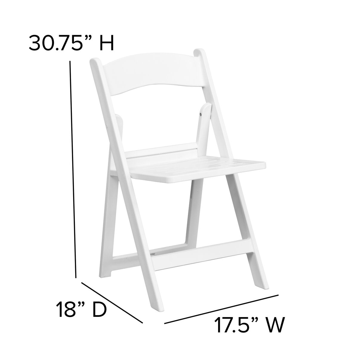 Strange Hercules Series 1000 Lb Capacity White Resin Folding Chair With Slatted Seat Caraccident5 Cool Chair Designs And Ideas Caraccident5Info
