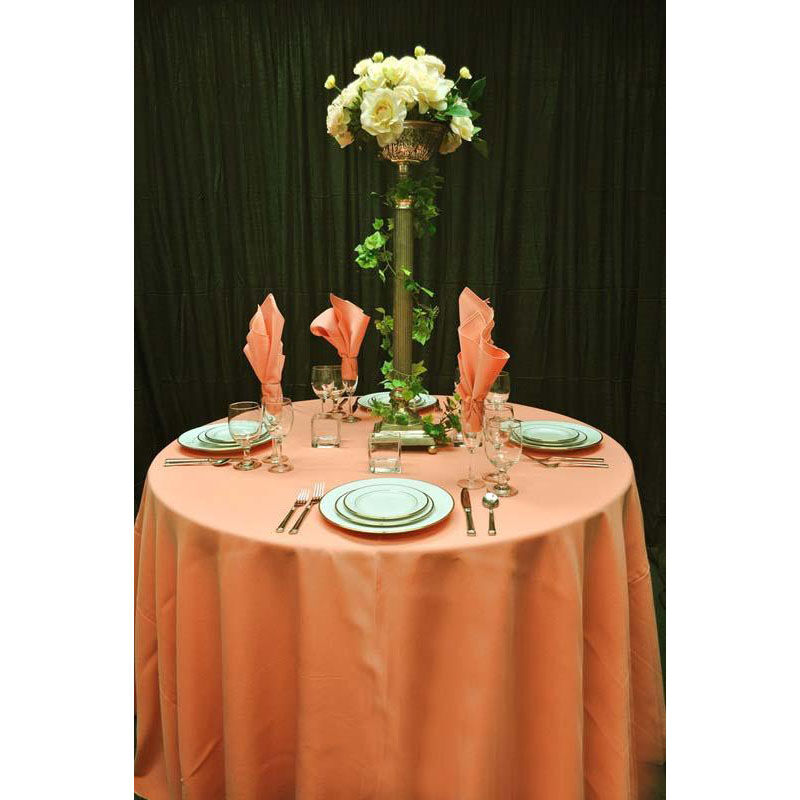 ... Our 60u0027u0027 X 108u0027u0027 Renaissance Stain Resistant Series Rectangular  Tablecloth   Peach
