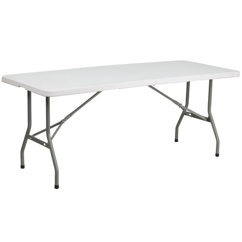 Our 6-Foot Bi-Fold Granite White Plastic Folding Table is on sale now.