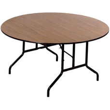 Laminate Top Particleboard Core Round Folding Seminar Table - 60'' Diameter x 29''H