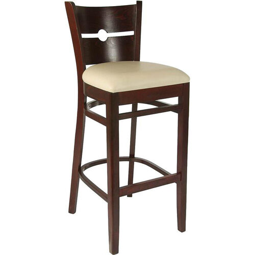 Our Coin Back Bar Stool in Dark Mahogany Wood Finish is on sale now.