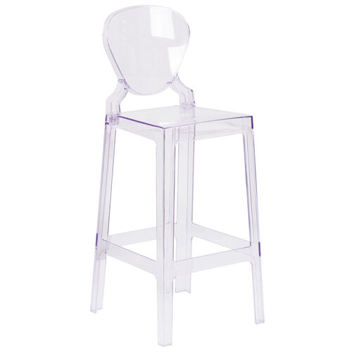 Our Ghost Barstool with Tear Back in Transparent Crystal is on sale now.