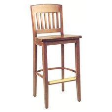 2491 Bar Stool w/ Wood Seat
