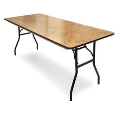Plywood Folding Table with Locking Wishbone Style Legs