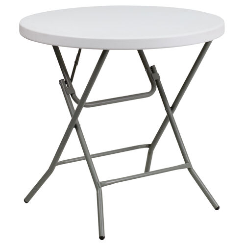 Our 3-Foot Round Granite White Plastic Folding Table is on sale now.