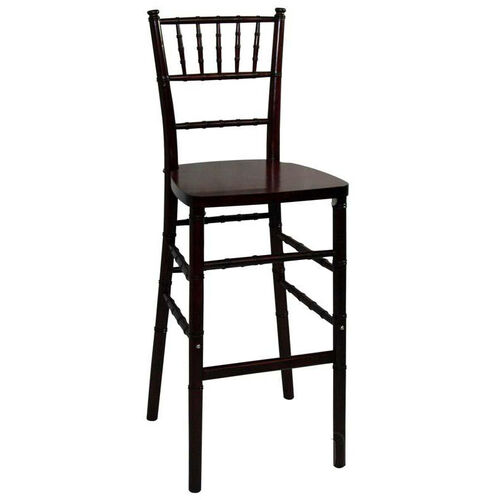 Legacy Series Stacking Wood Gloss Finish Chiavari Bar Stool - Fruitwood Finish
