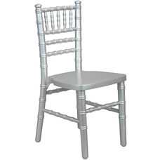 Advantage Kids Silver Wood Chiavari Chair