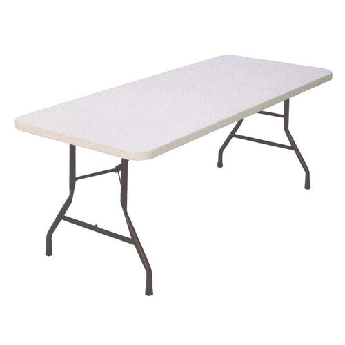 Economy Blow-Molded Rectangular Plastic Top Folding Table - 96