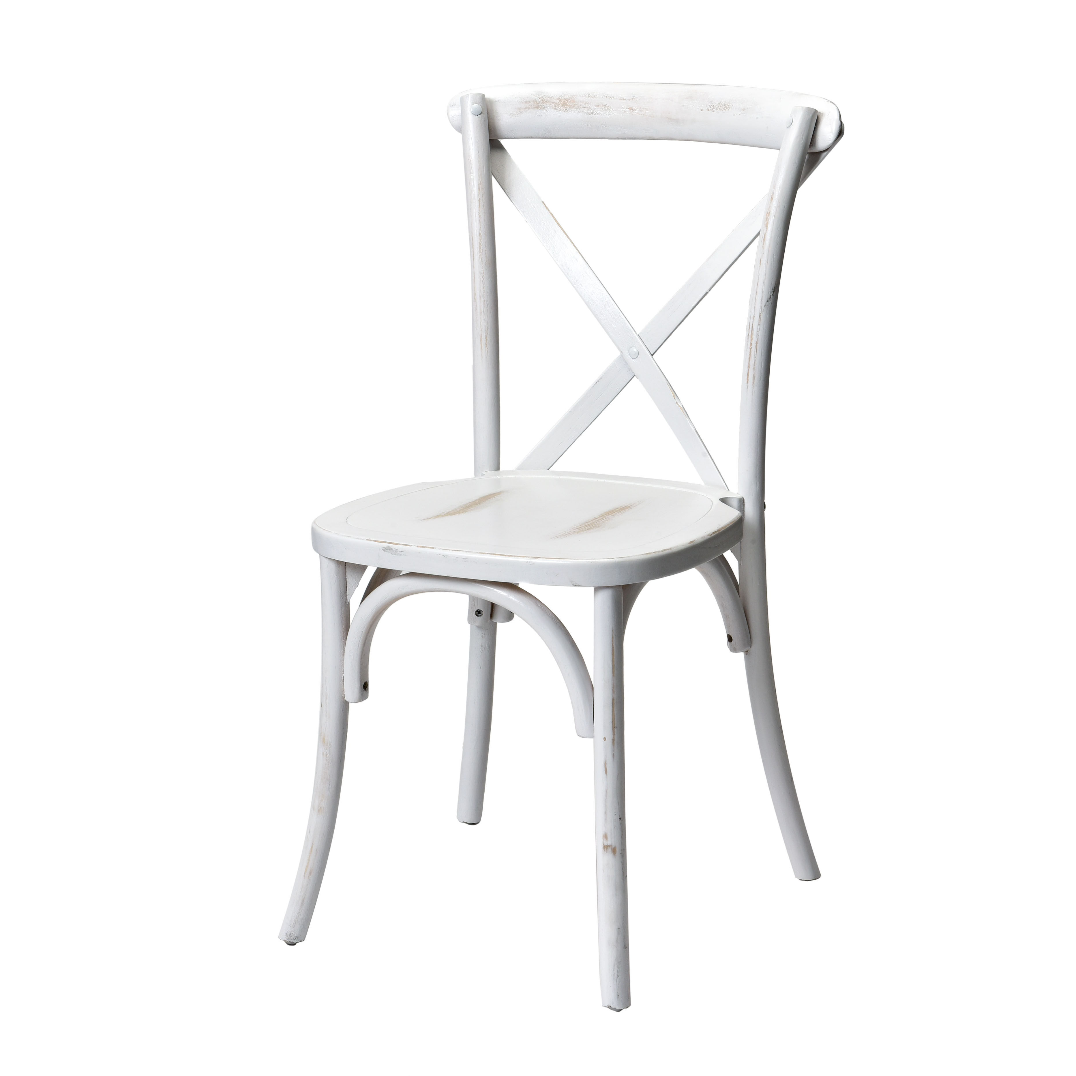 ... Our Rustic Sonoma Solid Wood Cross Back Stackable Dining Chair   White  Wash Is On Sale ...