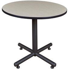 Kobe 42'' Round Laminate Breakroom Table with PVC Edge - Maple