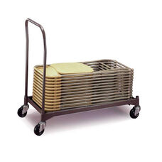 Poly Chair Steel Powder Coat Caddy with Casters - 42