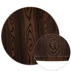 "24"" Round Rustic Wood Laminate Table Top"