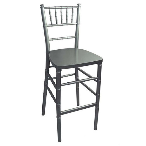 Our Legacy Series Stacking Wood Gloss Finish Chiavari Bar Stool - Silver Finish is on sale now.