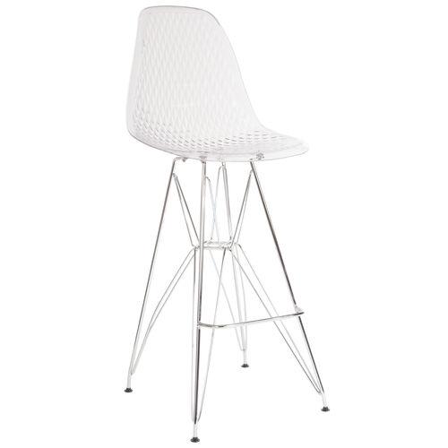 """30.25"""" High Clear Acrylic Barstool with Chrome Legs"""