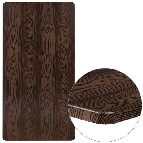 """Our 30"""" x 60"""" Rectangular Rustic Wood Laminate Table Top is on sale now."""