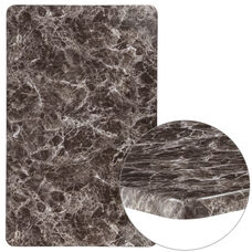 "30"" x 48"" Rectangular Gray Marble Laminate Table Top"