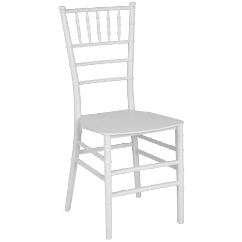 """Our HERCULES Series White Resin Stacking Chiavari Chair with <span style=""""color:#0000CD;"""">Free </span> Cushion is on sale now."""