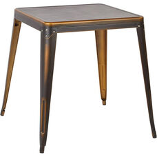 OSP Designs Bristow Antique Metal Table - Antique Copper
