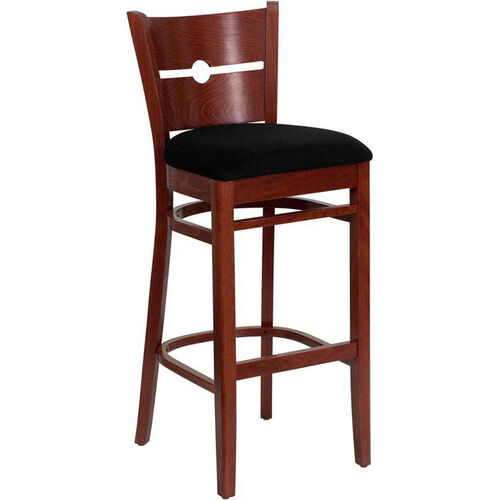 Our Coin Back Bar Stool in Mahogany Wood Finish is on sale now.
