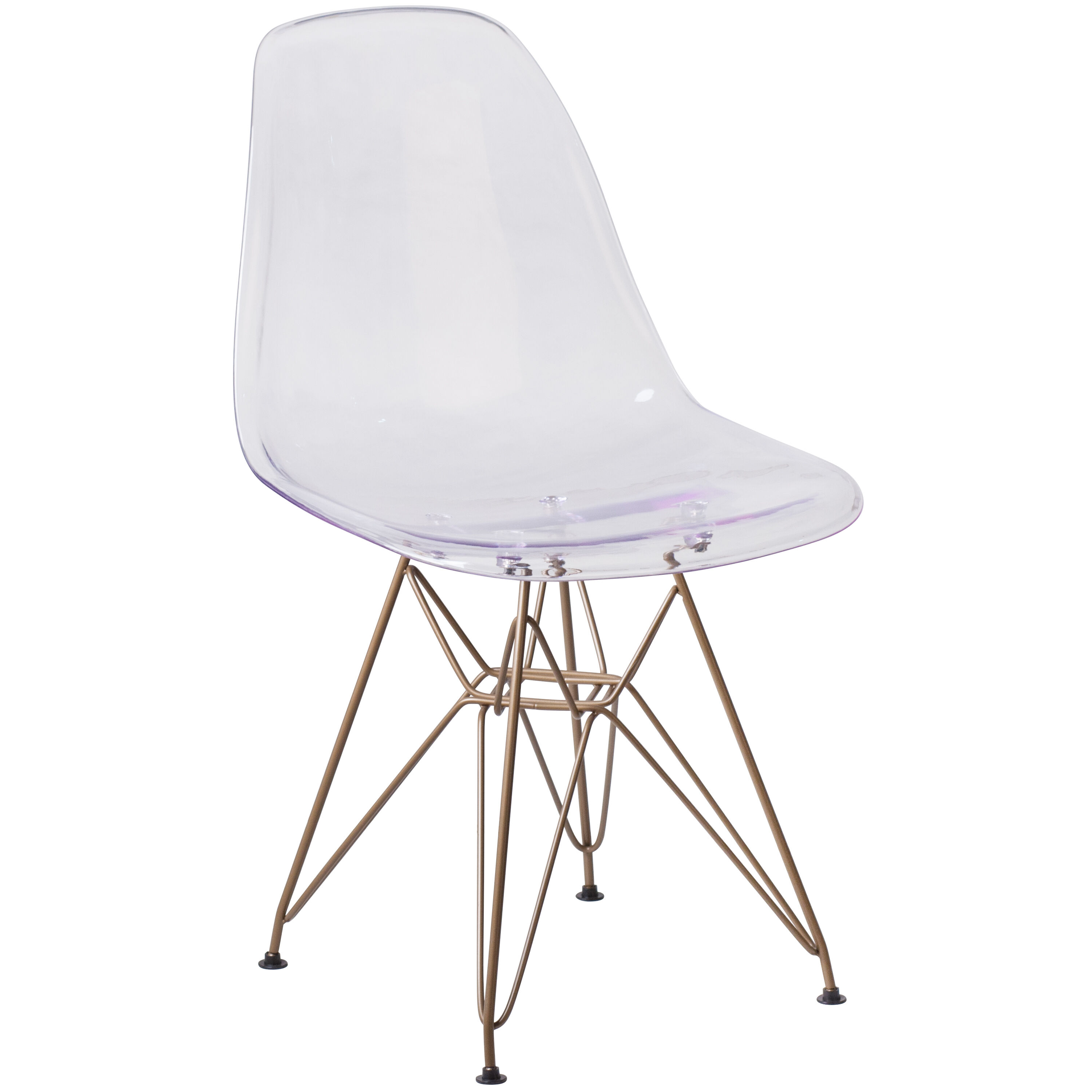 ... Our Elon Series Ghost Chair With Gold Metal Base Is On Sale Now.