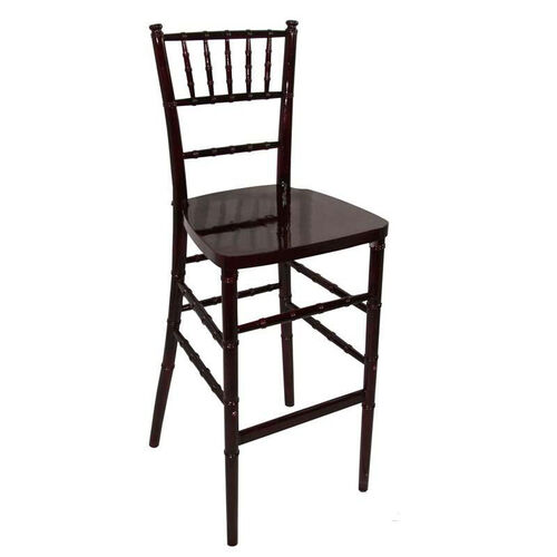 Our Legacy Series Stacking Wood Gloss Finish Chiavari Bar Stool - Mahogany Finish is on sale now.