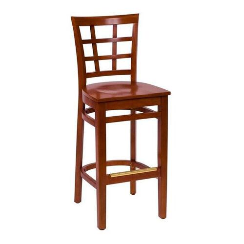 Our Pennington Cherry Wood Window Pane Barstool - Wood Seat is on sale now.