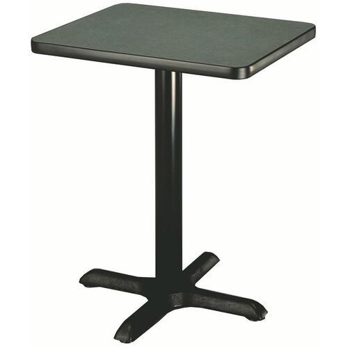 Our Laminate Top Pedestal Square Table with Cast Iron X-Base - 30