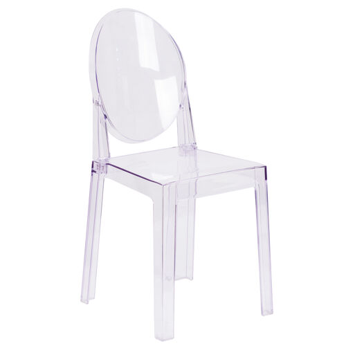 Our Ghost Chair with Oval Back in Transparent Crystal is on sale now.