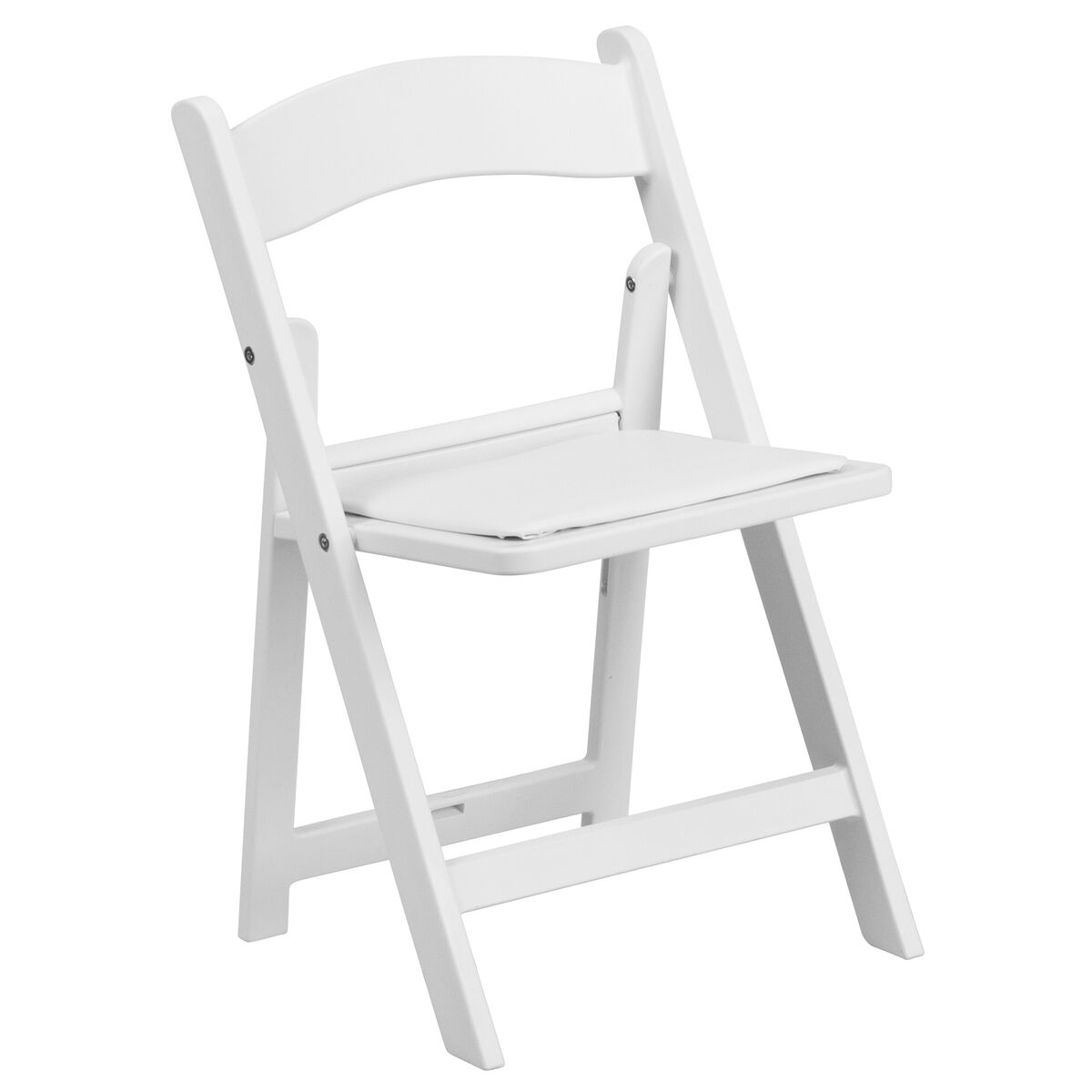 Awesome Kids White Resin Folding Chair With White Vinyl Padded Seat Uwap Interior Chair Design Uwaporg
