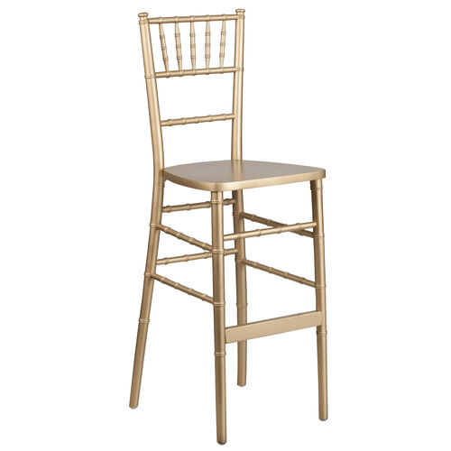 "Our HERCULES Series Gold Wood Chiavari Barstool with <span style=""color:#0000CD;"">Free </span> Cushion is on sale now."