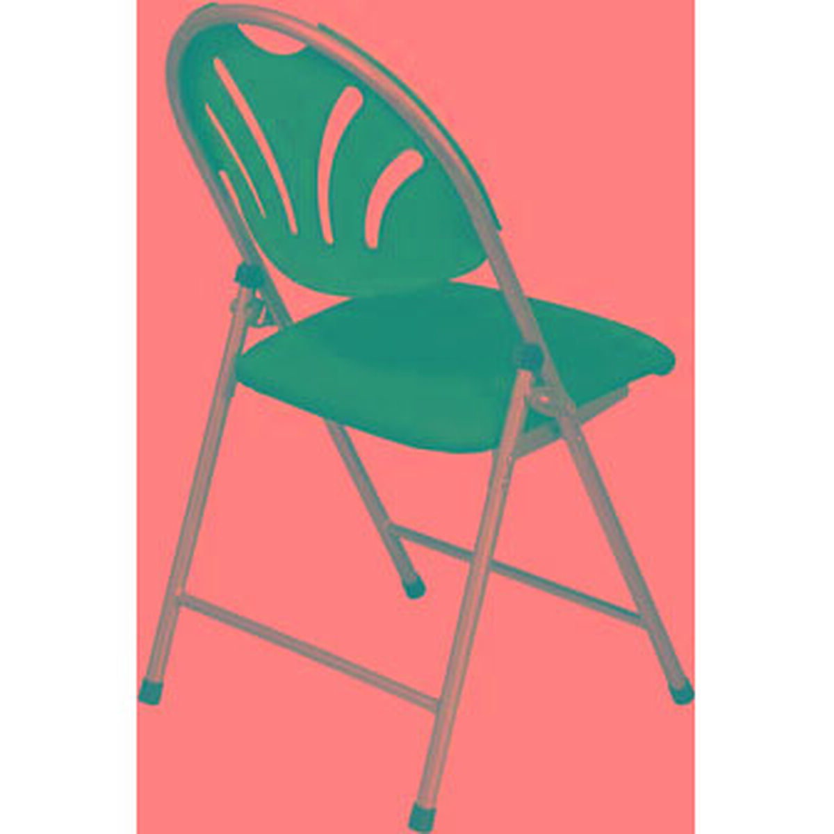 Surprising Work Smart Plastic Folding Chair With Fan Back And Padded Mesh Seat Set Of 4 Blue With Silver Frame Ibusinesslaw Wood Chair Design Ideas Ibusinesslaworg