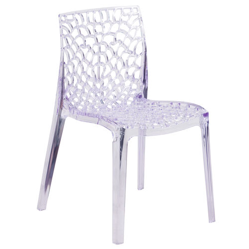 Our Vision Series Transparent Stacking Side Chair is on sale now.