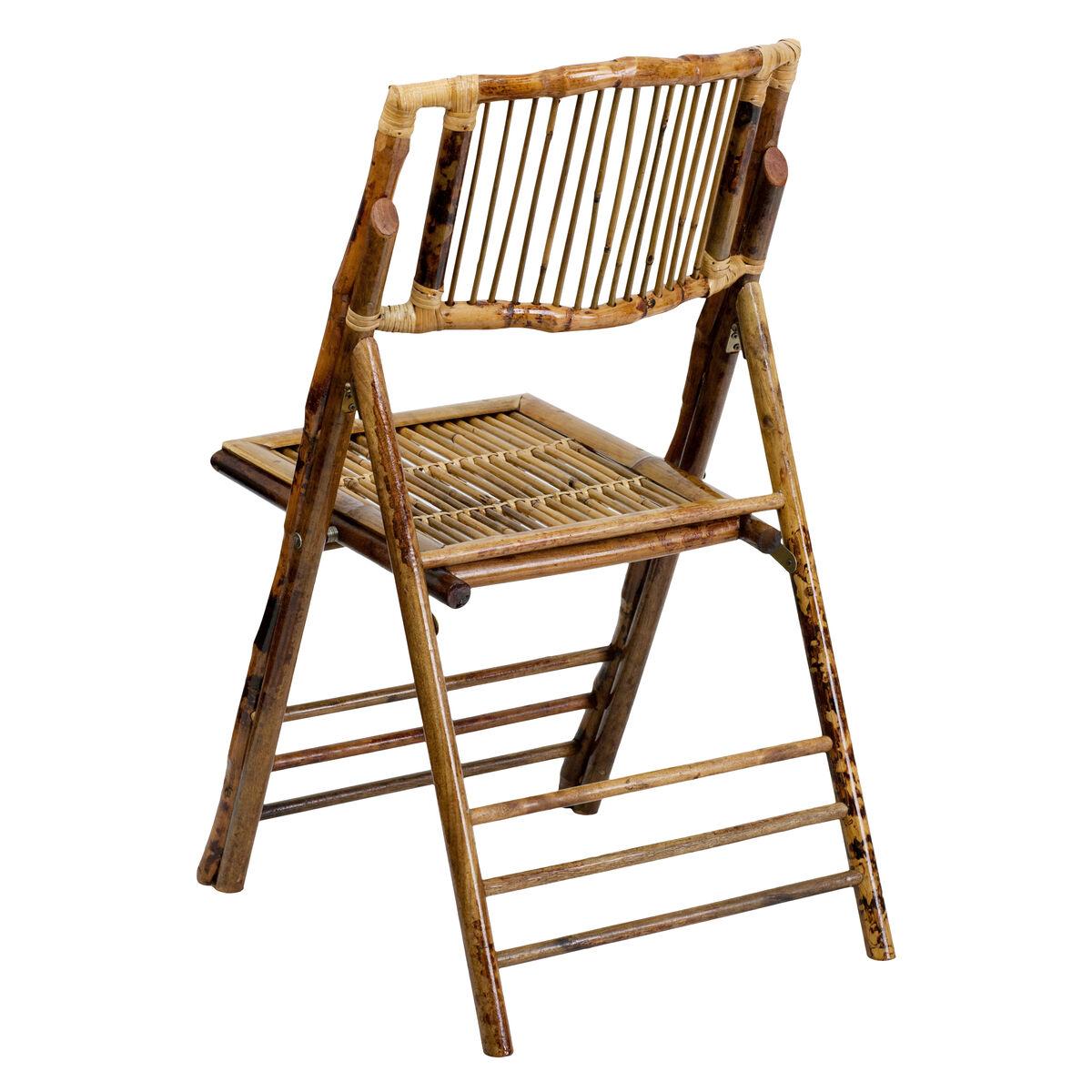 Flash Furniture American Champion Bamboo Folding Chair X