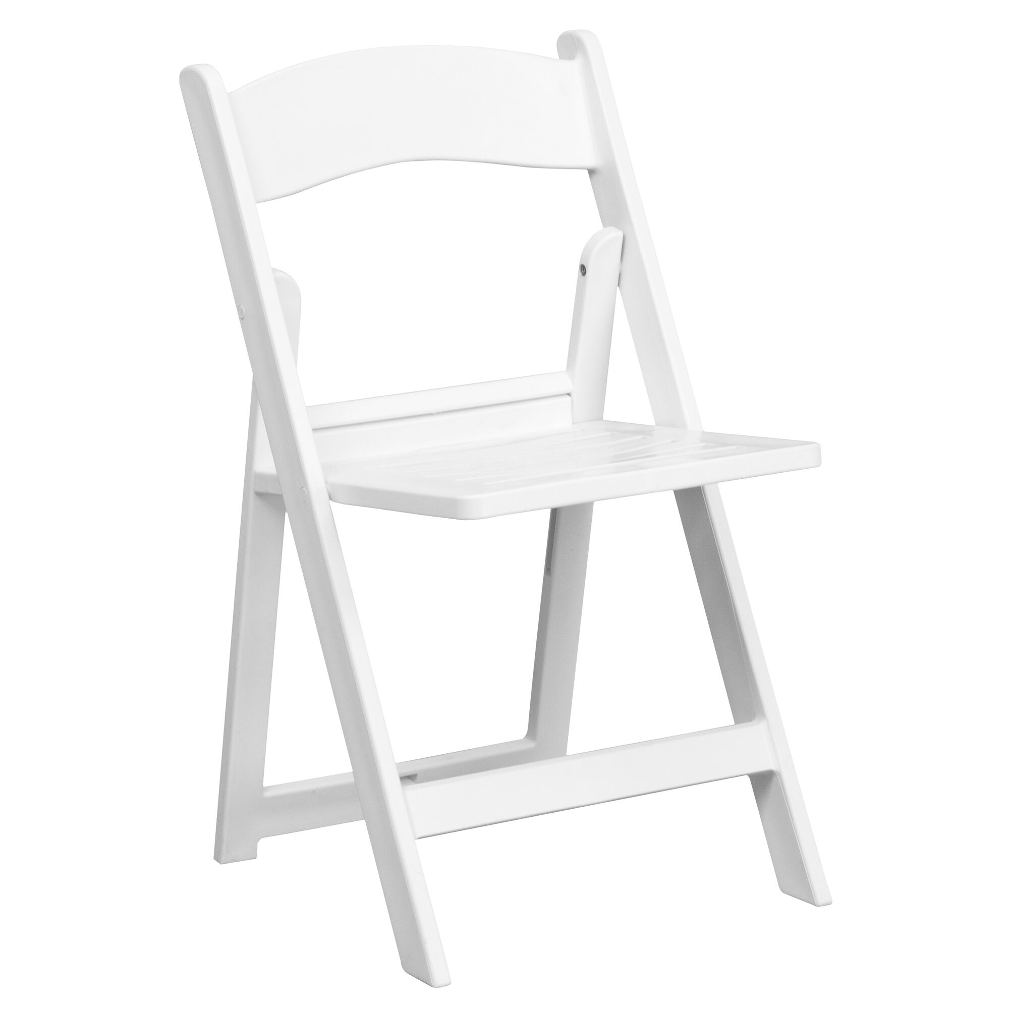 Marvelous Hercules Series 1000 Lb Capacity White Resin Folding Chair With Slatted Seat Creativecarmelina Interior Chair Design Creativecarmelinacom