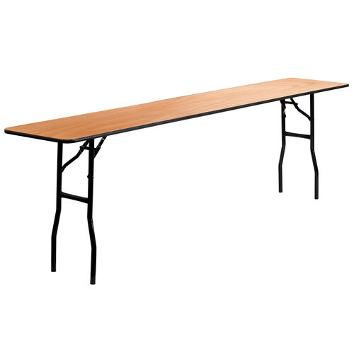 Our 8-Foot Rectangular Wood Folding Training / Seminar Table with Smooth Clear Coated Finished Top is on sale now.