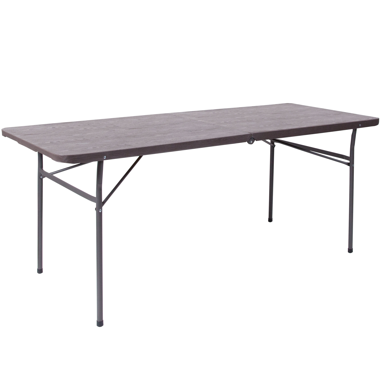 - 30x72 Brown Plastic Fold Table DAD-LF-183Z-GG BestChiavariChairs.com