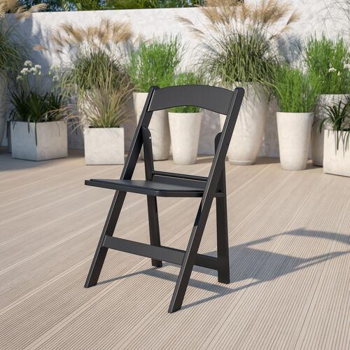 HERCULES Series 1000 lb. Capacity Resin Folding Chair with Vinyl Padded Seat