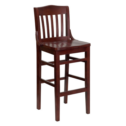 Our Mahogany Finished School House Back Wooden Restaurant Barstool is on sale now.