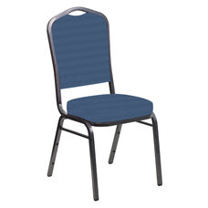 Crown Back Banquet Chair in Harmony Aster Fabric - Silver Vein Frame