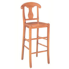1982 Bar Stool w/ Wood Seat