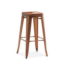 Dreux Stackable Vintage Copper Steel Barstool - Set of 4
